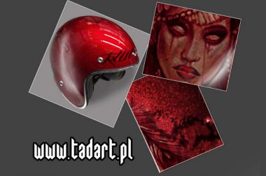 red candy helmet
